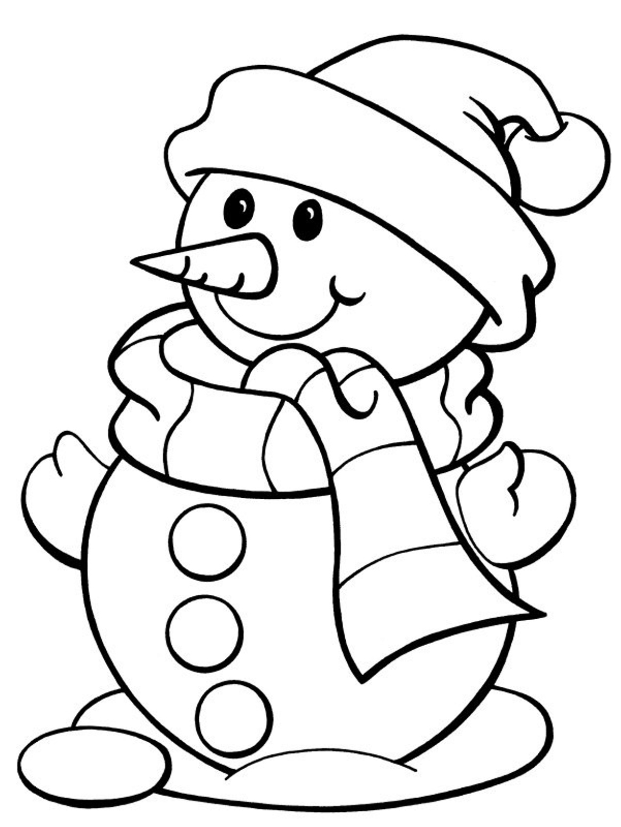 Coloring Page Free Coloring Pages Winter Snowman Free Winter ...